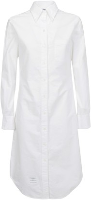 Thom Browne Long-Sleeve Shirt Dress