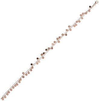 "Italian Silver 10"" Diamond Cut Disc Ankle Bracelet"