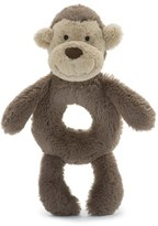Jellycat Infant 'Monkey' Grabber Rattle