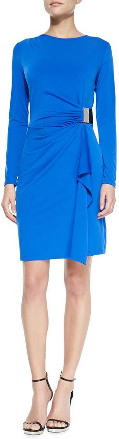MICHAEL Michael Kors Logo-Plate Jersey Dress