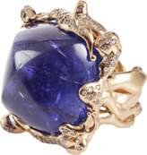 Lucifer Vir Honestus Cabochon Tanzanite Ring