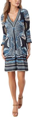 Hale Bob Flounce Sleeve Dress