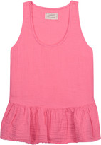 Current/Elliott The Ballet ruffled cotton-gauze tank