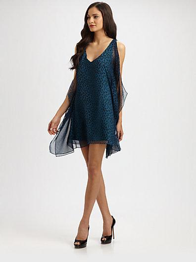 Jay Godfrey Leopard Scarf Dress