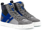 Hogan side zip hi-tops - kids - Leather/Suede/Polyamide/rubber - 28