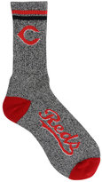 For Bare Feet Cincinnati Reds Heathered Crew Socks