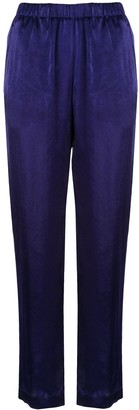 Forte Forte My Pants high-rise straight-leg satin trousers