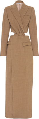 ANNA QUAN Anja Cutout Wool-Blend Dress