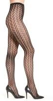 Hue 'Bold Herringbone' Net Tights
