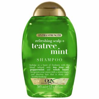 OGX Refreshing Scalp+ Teatree Mint Extra Strength Shampoo 385ml