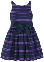 Polo Ralph Lauren Cotton Sateen Fit and Flare Dress (Little Kids)