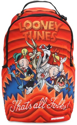 Sprayground Looney Tunes Shark Print Canvas Backpack