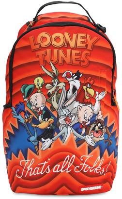 Sprayground Looney Tunes Shark Print Canvas Backpack