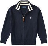 Ralph Lauren 2-7 Cotton Full-Zip Sweater