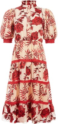 Alice + Olivia Regan tiered dress