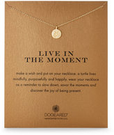 Dogeared Live In The Moment Sea Turtle Disc Necklace