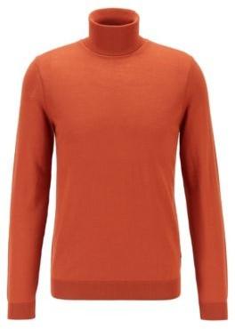 HUGO BOSS Turtleneck sweater in extra-fine Italian merino wool