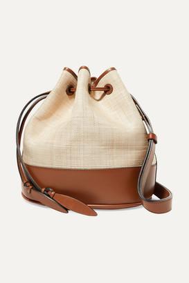 Hunting Season Raffia And Leather Shoulder Bag