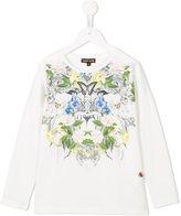 Roberto Cavalli floral print top - kids - Cotton/Spandex/Elastane - 12 yrs