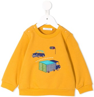 Familiar car embroidered sweatshirt