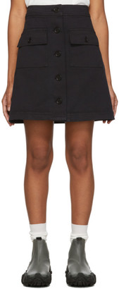 YMC Black Rapture Miniskirt