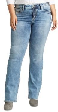 Silver Jeans Co. Plus Size Elyse Slim Bootcut Jeans
