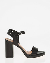 Le Château Leather Open Toe Platform Sandal