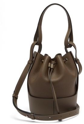 Loewe Balloon Small Drawstring-top Leather Bucket Bag - Brown