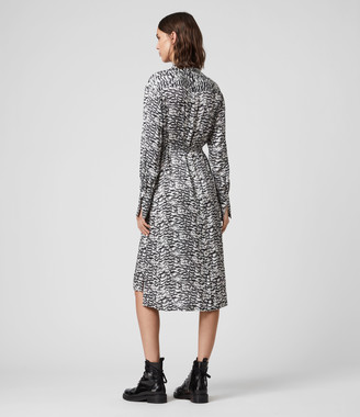 AllSaints Anya Plume Dress