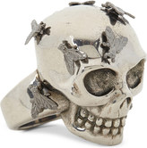 Alexander McQueen Skull and fly ring