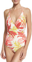 Vince Camuto Bind Surplus One-Piece Swimsuit, Pink Pattern