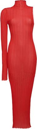 Boyarovskaya Asymmetric Ribbed Knit Midi Dress