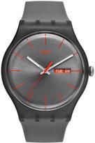 Swatch Watch, Unisex Swiss Warm Rebel Gray Silicone Strap 41mm SUOM702