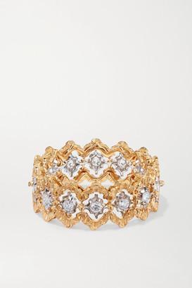 Buccellati Rombi 18-karat Yellow And White Gold Diamond Ring - 52