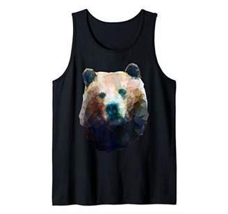 Wild Bear Low Poly Geometric Minimalist Polygonal Artsy Tank Top
