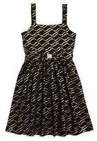 Us Angels Girls' Knit Print Dress - Big Kid