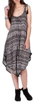 Volcom Women's Paved Dream Asymmetrical Hem Tie Shoulder Dress