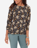 The Limited Printed Ruffle Hem Blouse