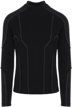 Feng Chen Wang Mock Neck Contrast-Stitch Sweatshirt