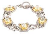 Judith Ripka Canary Crystal Link Bracelet
