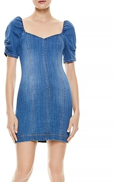Alice + Olivia Mimi Denim Short Sleeve Dress