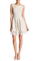 Tahari Linen-Blend Fit & Flare Dress (Petite)