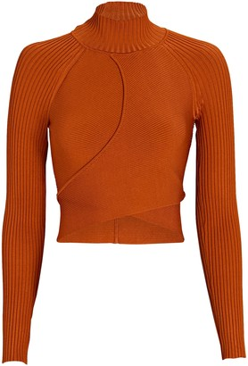 Jonathan Simkhai Camila Cut-Out Turtleneck Top