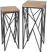 Privilege Angled-Base Wood & Metal Plant Stands