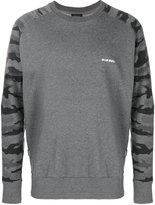 Diesel camouflage sleeve sweatshirt