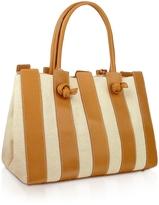 Fontanelli Canvas & Leather Italian Tote Handbag