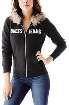 G by Guess GByGUESS Women's Fabianna Faux-Fur Hoodie