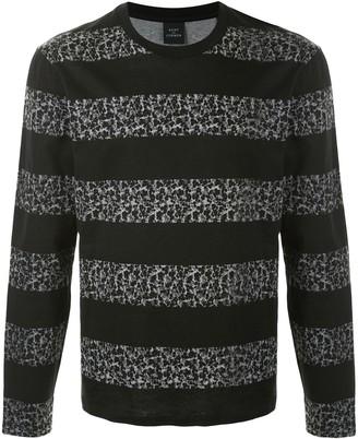 Kent & Curwen long sleeve block stripe T-shirt