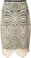 Nicole Miller scalloped hem skirt - women - Polyester - 6