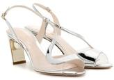 Nicholas Kirkwood Maeva 70mm metallic leather sandals